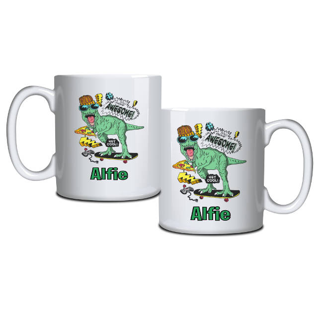 Personalised Awesome Dinosaur Mug