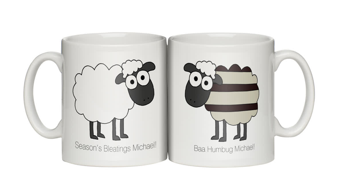 Personalised Baa Humbug Personalised Mug Christmas