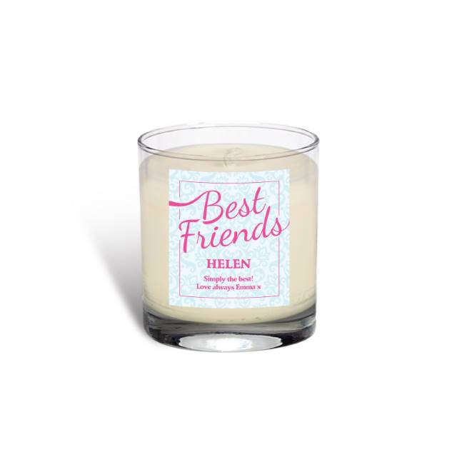 Personalised Best Friends Rose Scented Candle