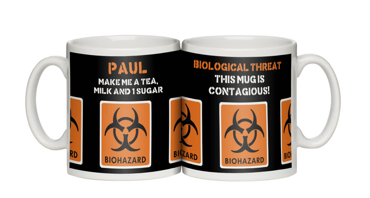"Personalised ""Biohazard"" Mug"