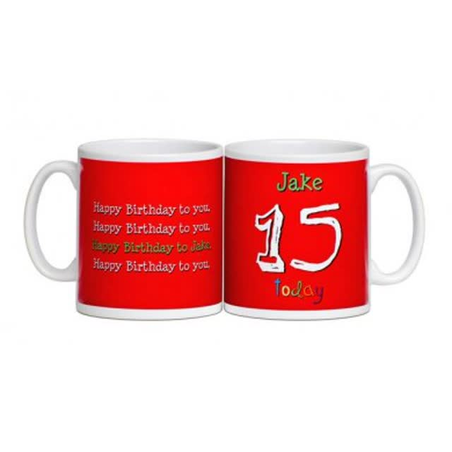 Personalised Birthday Age Mug