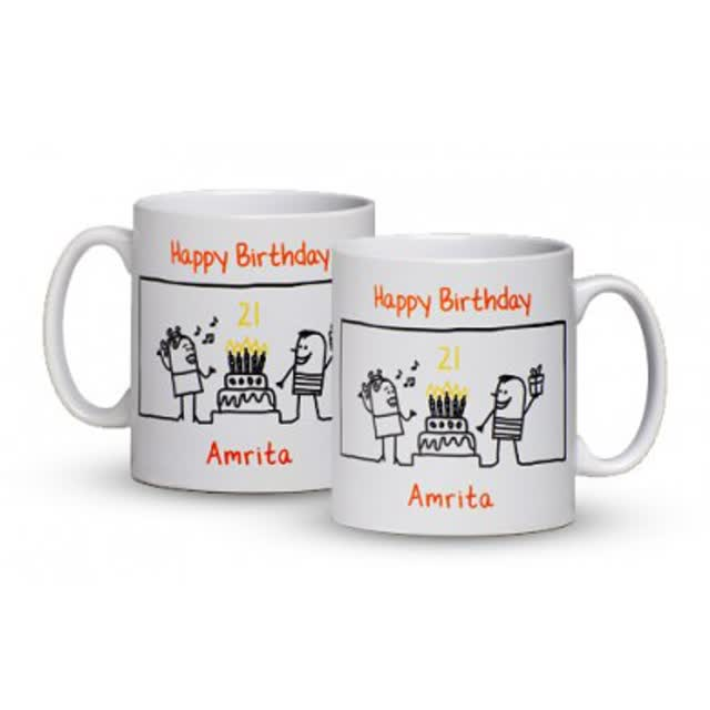 Personalised Birthday Party Time Mug