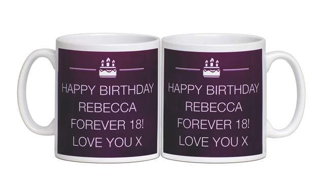 Personalised Birthday Text Message Mug