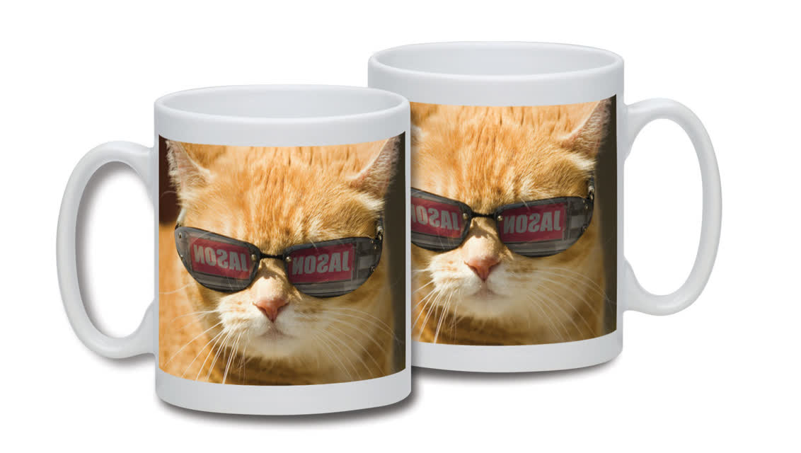 Personalised Cat in Shades Mug