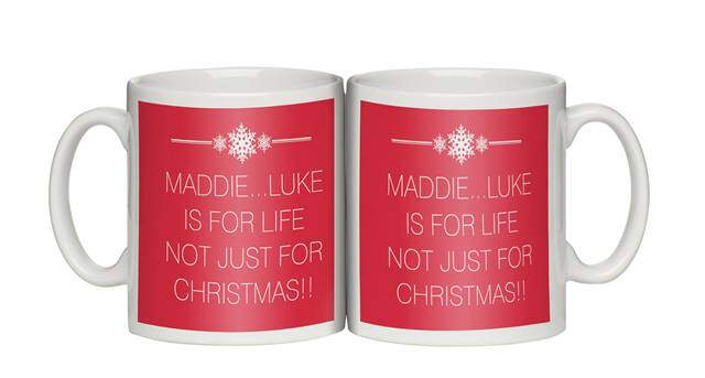 Personalised Christmas Text Message Mug