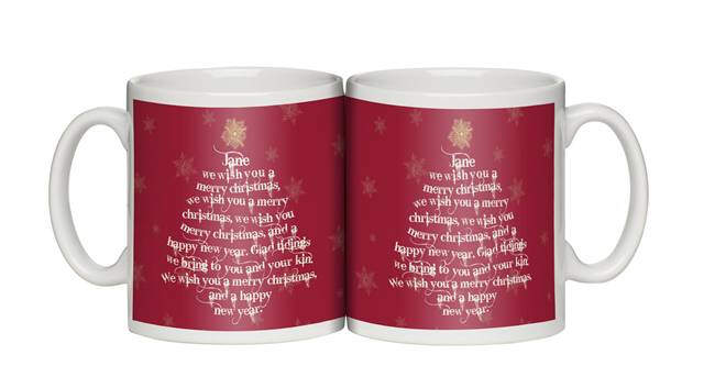 Personalised Christmas Tree Personalised Mug