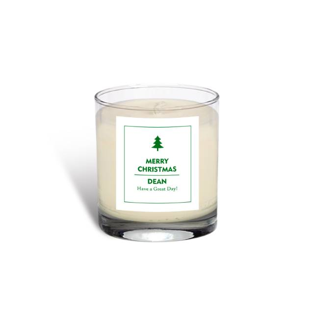 Personalised Christmas Tree Vanilla Scented Candle