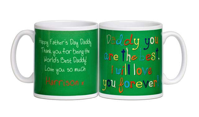 Personalised Fathers Day Love You Forever Mug