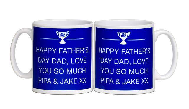 Personalised Father's Day Text Message Mug
