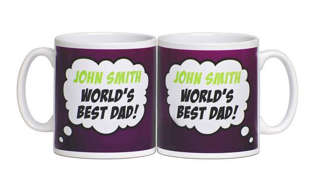 Personalised Fathers Day Words Best Dad Mug