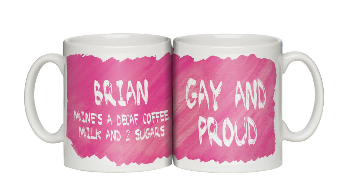 Personalised Gay and Proud Mug