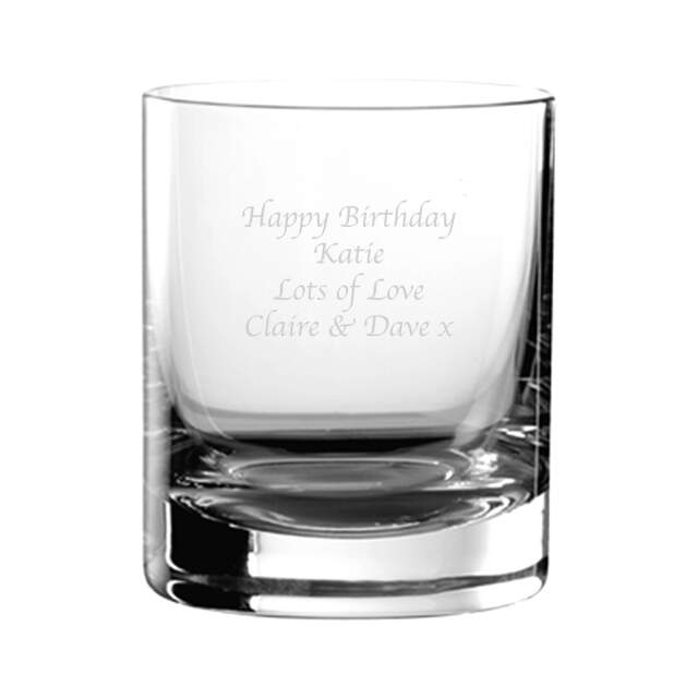 Personalised Glass Tumbler