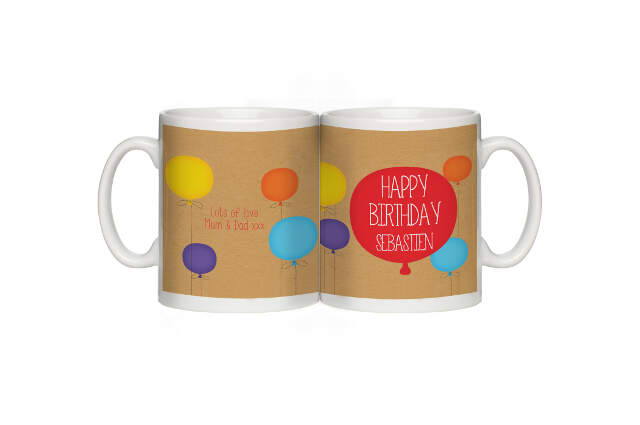 Personalised Happy Birthday Mug for Him