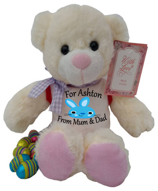 Personalised Harry The Teddy Bear Blue Bunny
