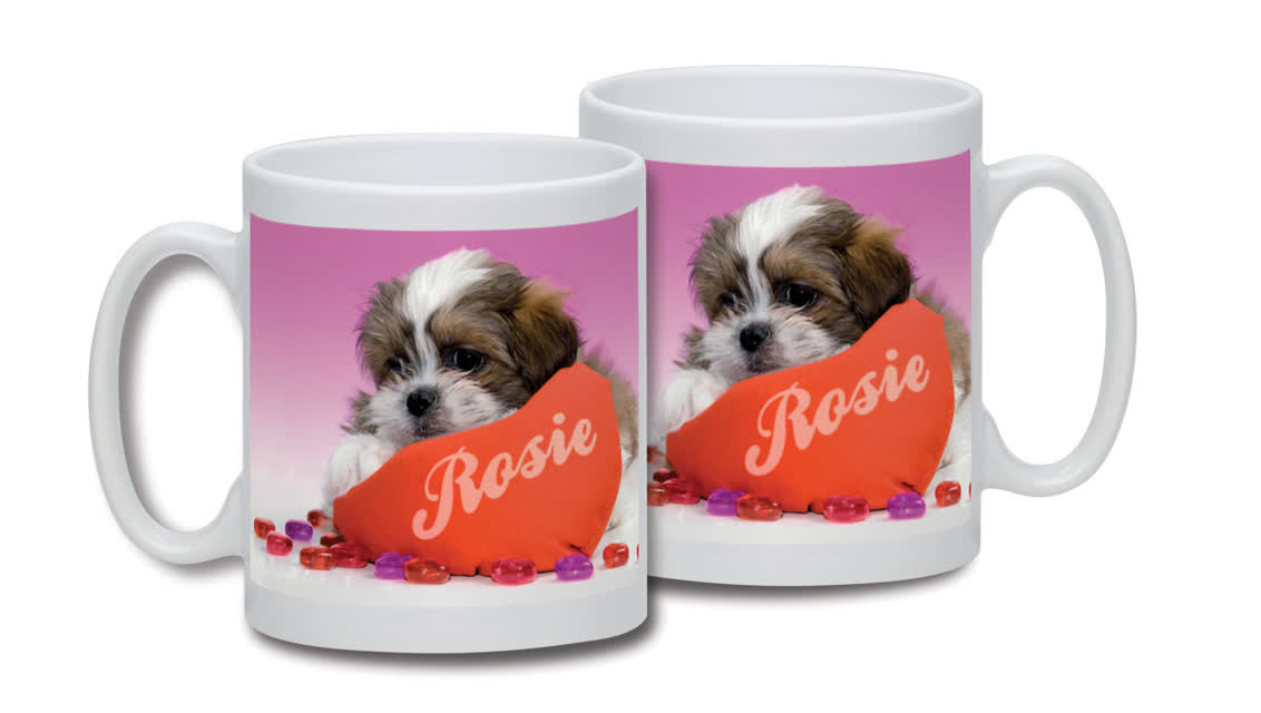 Personalised Love Puppy Mug