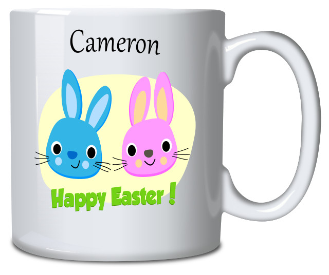 Personalised Mug Easter Bunnies