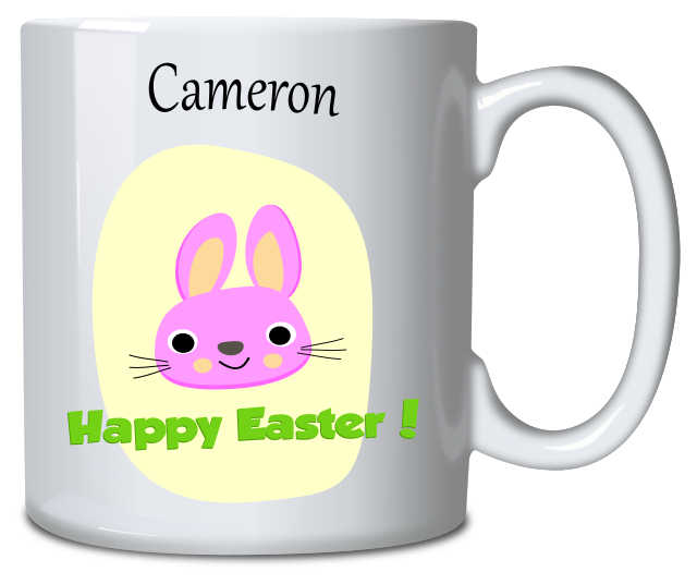Personalised Mug Easter Bunny Pink