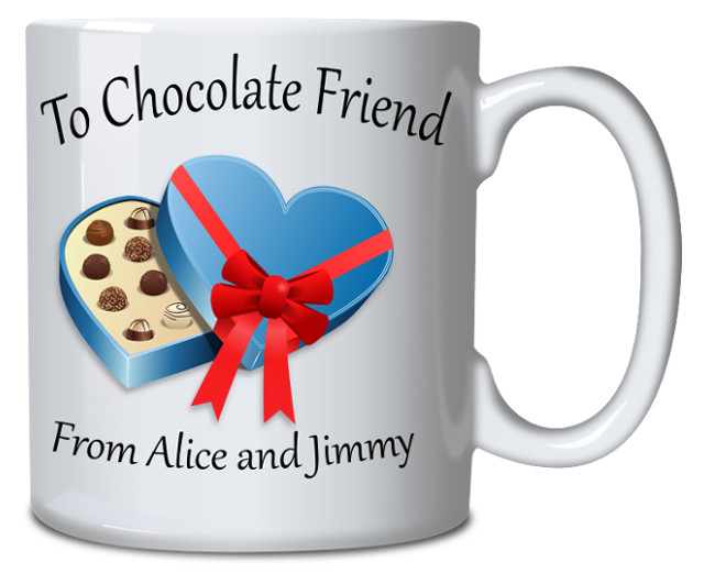 Personalised Mug Friend With Chocolate