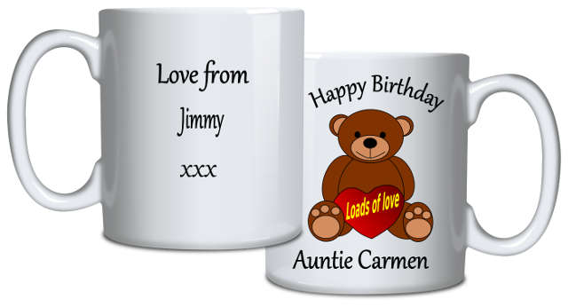 Personalised Mug Teddy And Message
