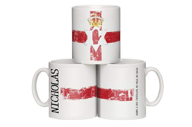 Personalised Northern Ireland Grunge Mug