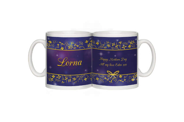 Personalised Ornate Design Mug