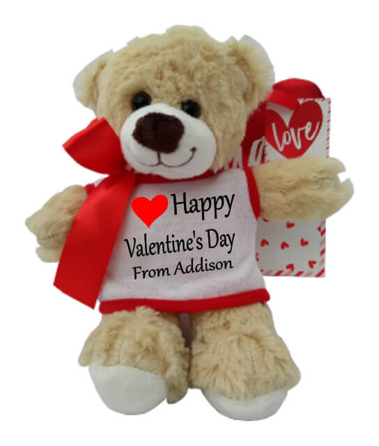 Personalised Richard the Teddy Bear Valentine's Day