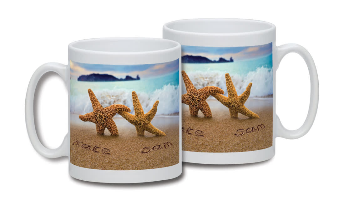 Personalised Starfish Couple Mug