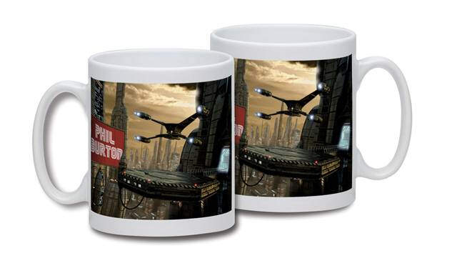 Personalised Starship Cityscape Mug