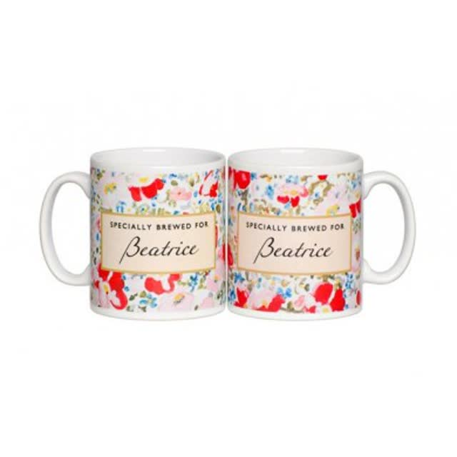 Personalised Tea Lovers Mug - Floral Design