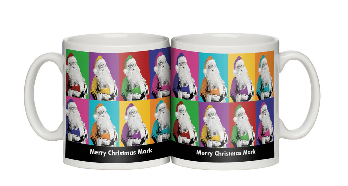 Personalised Technicoloured Santa Personalised Mug