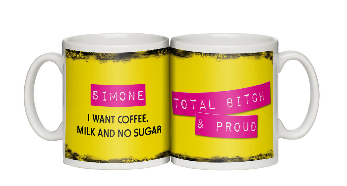 Personalised Total Bitch and Proud Mug