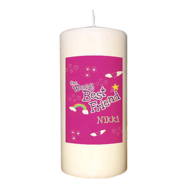Personalised World's Best Friend Ivory Candle