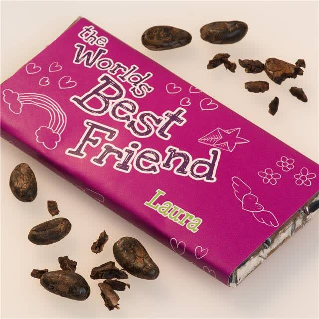 Personalised World's Greatest Friend Chocolate Bar