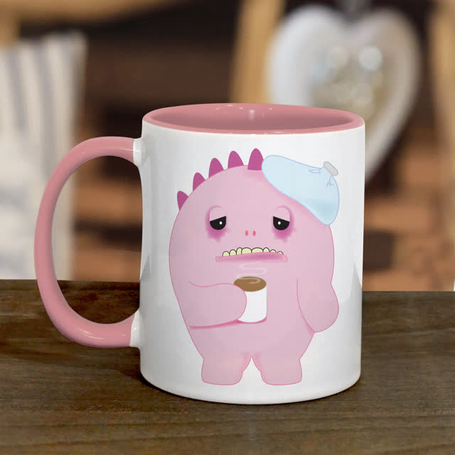 Pink Monster Hangover Mug