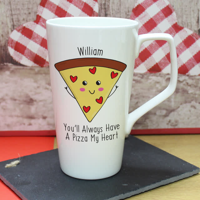 Pizza My Heart Large Latte Mug