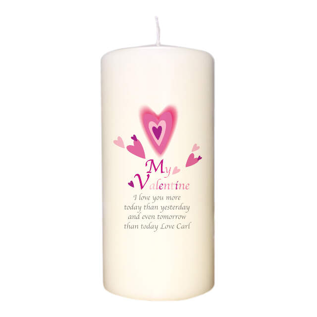 Red Hearts Valentine Candle