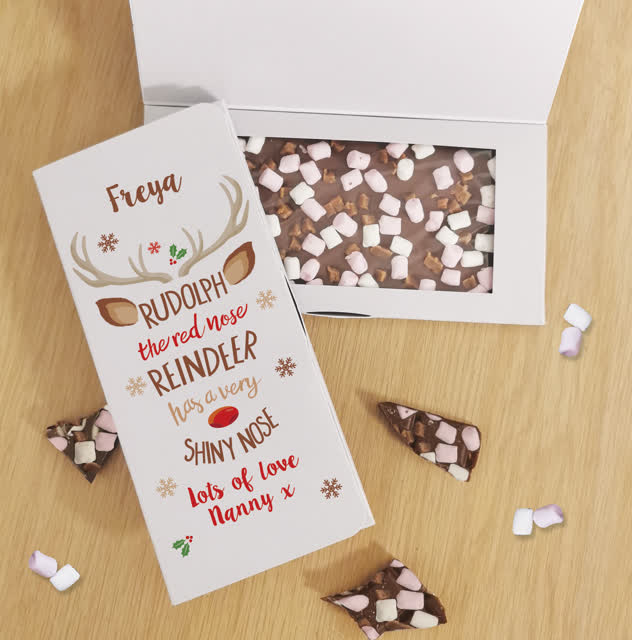 Rudolph Milk Chocolate Card