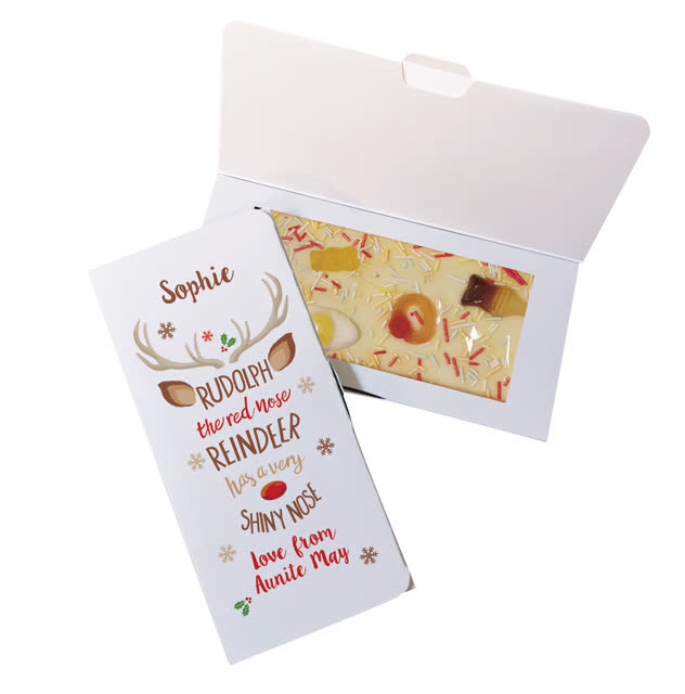 Rudolph White Chocolate Card