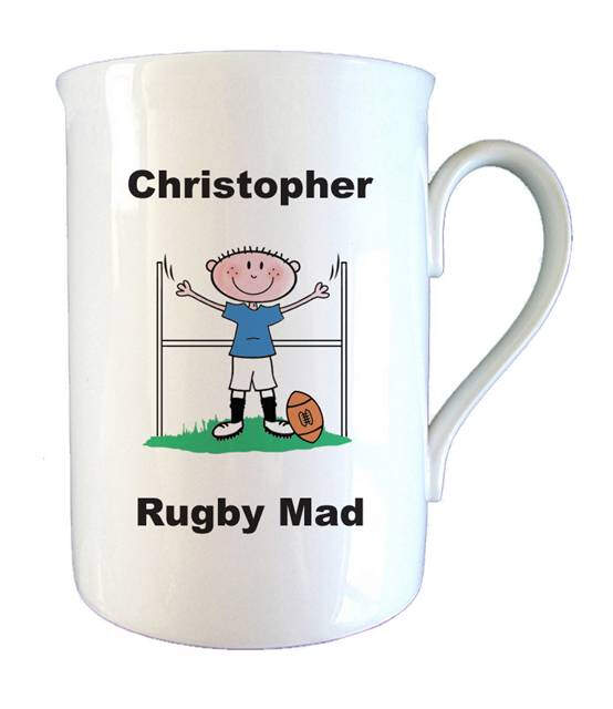 Rugby Mad Bone China Mug