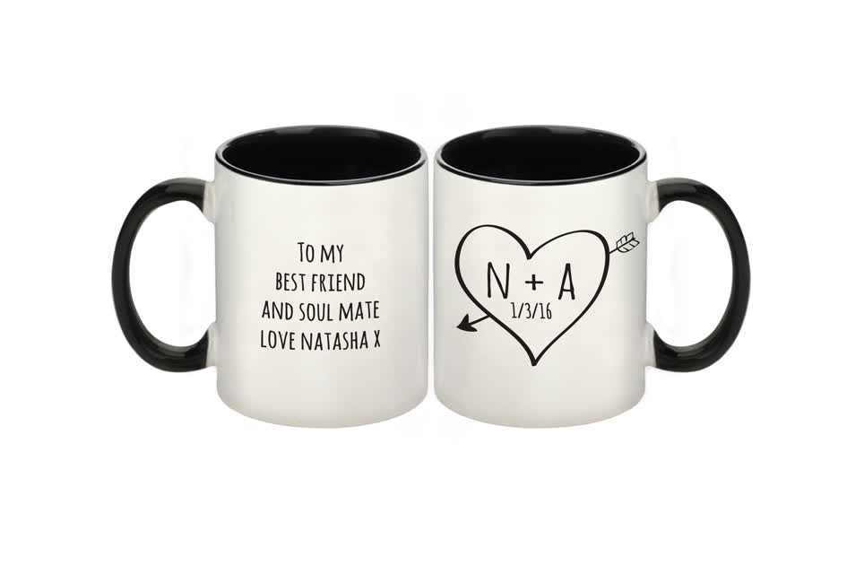Sketch Heart Sublimation Mug