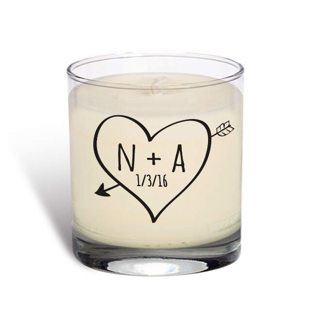 Sketch Heart Vanilla Scented Candle
