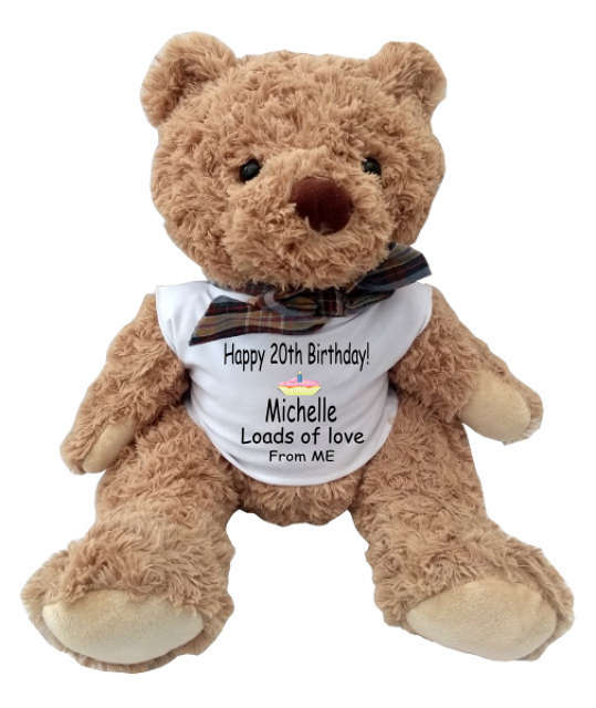 Snuggles The Teddy Bear For Birthday