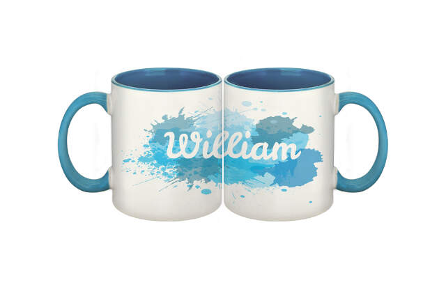 Splash Blue Sublimation Mug