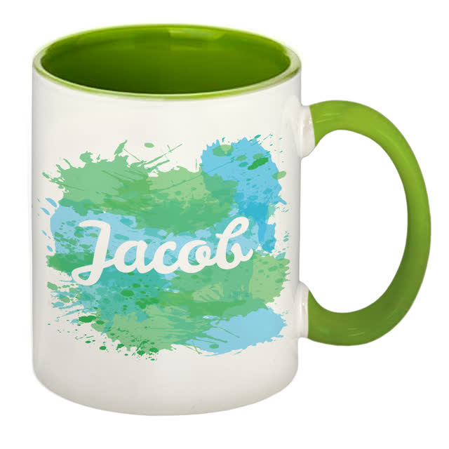 Splash Green Sublimation Mug