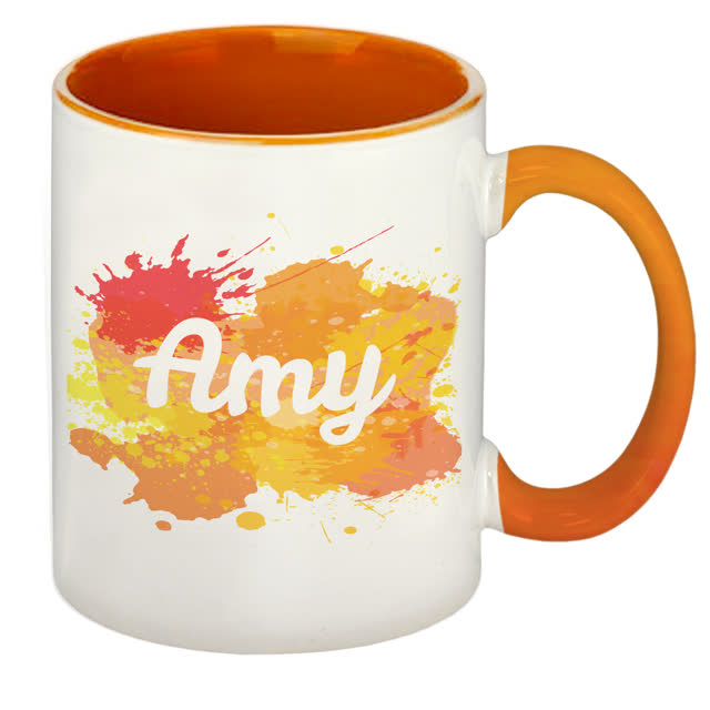Splash Orange Sublimation Mug