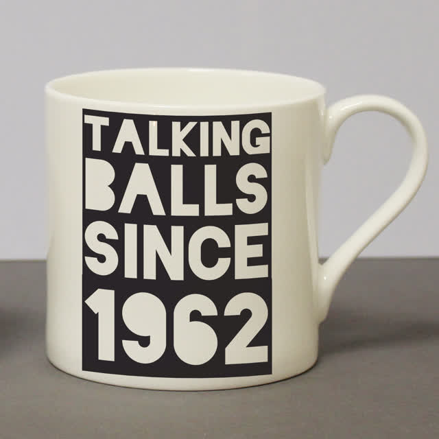 Talking Balls Since Chunky Mug