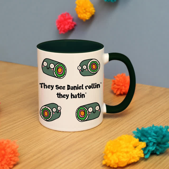 They Hatin' Dark Green Inside Mug