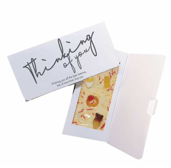 Thinking Of You White Chocolate Card