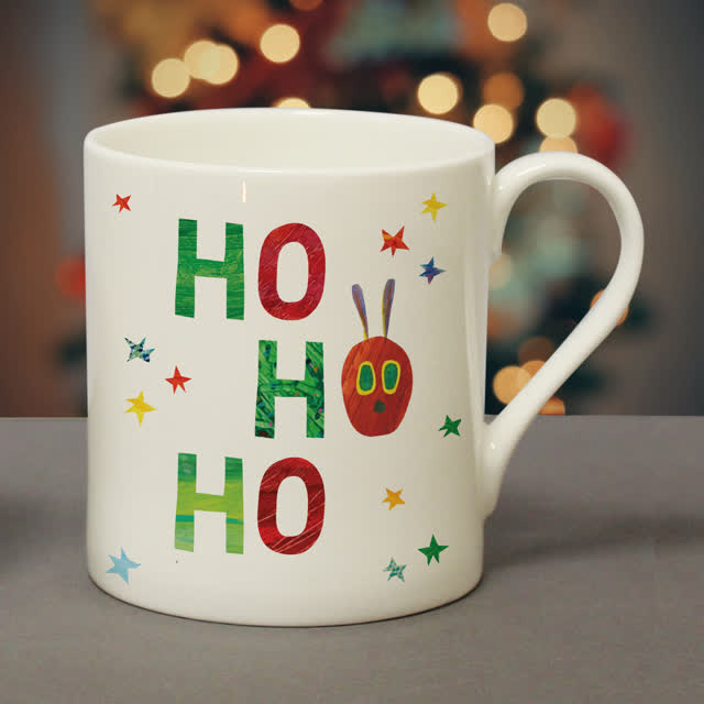 Very Hungry Caterpillar Ho Ho Ho Balmoral Mug