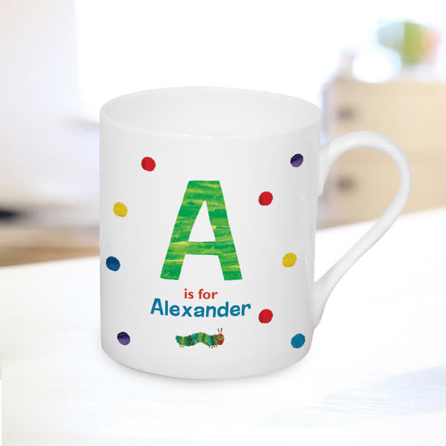 Very Hungry Caterpillar Spotty Initial Balmoral Mug